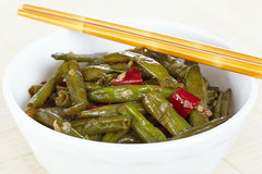 Fried green beans Royalty Free Stock Photography