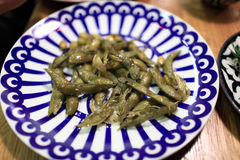 Fried green beans Stock Photography