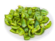 Fried Green Pepper Suzhou Style. Chinese Cuisine, Fried Green Pepper Suzhou Style Royalty Free Stock Photography