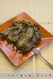 Fried green peppers Stock Images