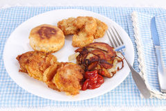 Fried Green Tomatoes Stock Images
