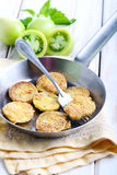 Fried green tomatoes Stock Photos