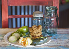 Fried Green Tomatoes Stock Photography