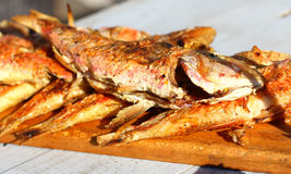 Fried grill sea fish Stock Photo