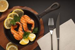 Fried or grilled fish Royalty Free Stock Photo