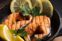 Fried or grilled fish Stock Photo