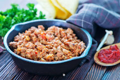 Fried ground meat Royalty Free Stock Photos