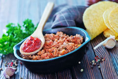 Fried ground meat Royalty Free Stock Photography