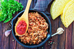 Fried ground meat Stock Photos