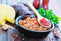 Fried ground meat Stock Images
