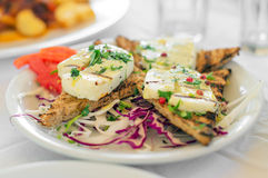 Fried Halloumi. Royalty Free Stock Photography