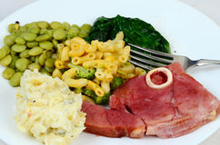 Fried Ham Dinner Royalty Free Stock Photos