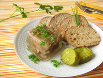 Fried herring into aspic Stock Photography