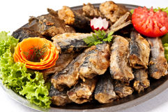 Fried herring dish Stock Photo