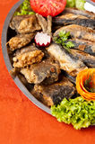 Fried herring dish Royalty Free Stock Images