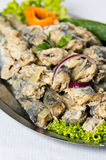 Fried herring dish Stock Images