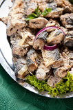 Fried herring dish Royalty Free Stock Photo