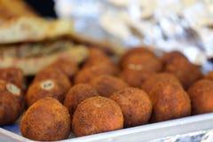 Fried Hispanic Latin Croquette bollar Arkivfoto