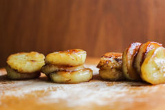 FRIED HONEY-BANANEN Stockbild