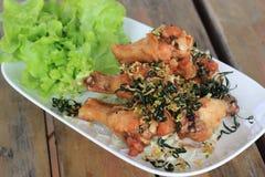 Fried Hot Chicken Wings Fotos de Stock