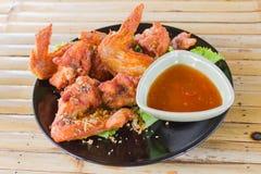 Fried Hot Chicken Wings Fotografia de Stock Royalty Free