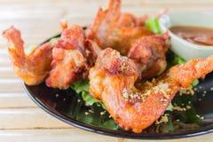 Fried Hot Chicken Wings Fotos de Stock Royalty Free