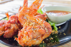 Fried Hot Chicken Wings Stockfotografie