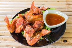 Fried Hot Chicken Wings Royalty Free Stock Images