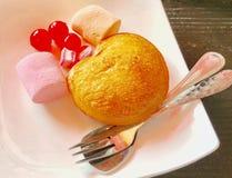Fried Ice Cream y desmoche Imágenes de archivo libres de regalías