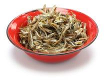 Fried Ikan Bilis(dried Anchovies) , Malaysian Food Stock Photo