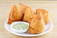 Fried Indian Samosa Stock Image
