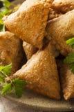 Fried Indian Samosas casalingo Immagine Stock Libera da Diritti