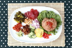 Fried jasmine rice with shrimp paste, Kao Klok Kapi -Thai. Stock Image