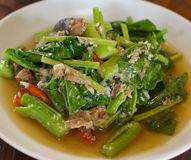 Fried kale vegetable , Thai food Stock Image