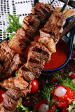 Fried kebab Royalty Free Stock Image