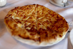 Fried khachapuri Stock Photos
