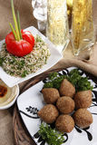 Fried kibbe Stock Photography