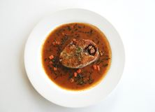 Fried King mackerel with red chili sauce Stock Photography