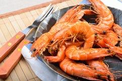 Fried king prawns Royalty Free Stock Images