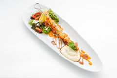 Fried king shrimps Stock Photo