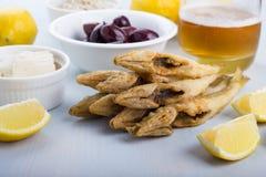 Fried ladyfish. Stock Photo