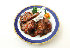 Fried lamb chop with bean paste sauce. Chinese cuisine. yumcha, chinese food Stock Photography