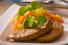 Fried lamb steak Stock Image