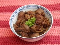 Fried liver Royalty Free Stock Image