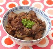 Fried liver Royalty Free Stock Images