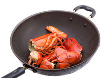 Fried lobster isolated on white Royalty Free Stock Photos