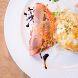 Fried lobster in a restaurant Royalty Free Stock Photo