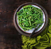 Fried long beans royalty free stock photo