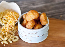 Fried Macaroni and Cheese Royalty Free Stock Photo