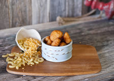 Fried Macaroni and Cheese Royalty Free Stock Images
